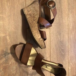 Montego Bay Club Shoes - Brown wedge size 6W
